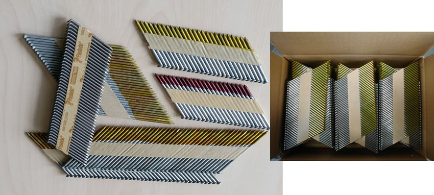 Plastic Strip And Paper Tape Collated Framing Nails